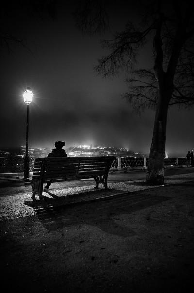 Un soir à Lisbonne. Contemplation et Brouillard