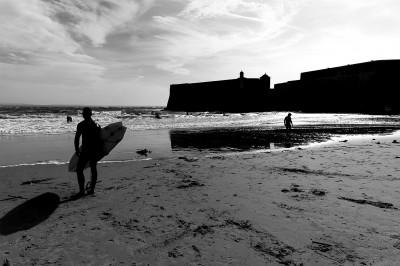Surf au pied du fort